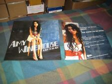 AMY WINEHOUSE-(back to black)-1 POSTER-2 SIDED-12X12-MINT-RARE