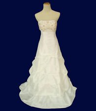 Hailey Logan $240 Evening Prom Formal Cruise Strapless Long Ivory Dress size 11