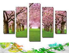 Abstract Wall Decor Art Oil Painting on Canvas 5 Parts NO frame Cherry Blossom