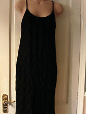 SIZE 12  FULLY LINED BLACK STRAPPY DRESS