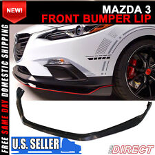 Fit For 14 15 16 Mazda 3 4Dr / 5Dr Front Bumper Lip Spoiler - ABS