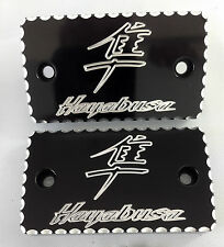 99-17 Hayabusa Black/Silver Ball Cut Brake/Clutch Mastercylinder Reservoir Caps!