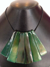 SALE!! Gorgeous Buffalo Horn green lacquered unique statement necklace