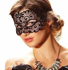 Black Sexy Deep Lace Mask/Veil Catwoman Bondage Night Club Belly Dance  New