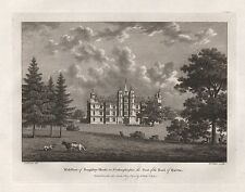 1782 ANTIQUE PRINT SEATS OF THE NOBILITY -WATTS-NORTHAMPTONSHIRE-BURGHLEY HOUSE