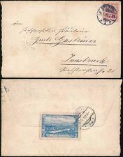 GERMANY 1909 STETTIN POLAND GRAZ ROSEGG ROSENTALE LABEL CANCELLED INNSBRUCK