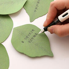Lovely 1pcs Leaves Post it Stationery Sticky Notes Cute Stickers Leave Message