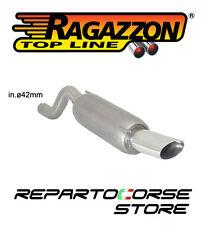 RAGAZZON SCARICO TERMINALE OVALE 110x65mm OPEL CORSA D 1.2 16V 51kW 2011>2014
