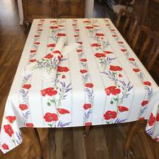 FRENCH PROVINCIAL COUNTRY TABLECLOTH Cotton 155x 200 cm- 6 seats MADE IN FRANCE