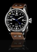 ZINEX 24 HOUR G.C.T, RARE 48MM HAMILTON 922B PILOT WATCH, MECHANICAL WIND