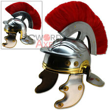 Roman Galea Imperial Legion Helmet - Red Horse Hair Plume Forged Steel