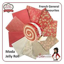 Moda French General Favourites Jelly Roll Fabric Rouenneries vintage favorites