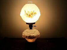 Vintage Gone with the Wind Embossed Lion Head/Floral Hurricane Table Lamp
