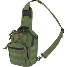 Outdoor Tactical Shoulder Gearslinger Backpack, Mens Remora Green Camp Hike Pack