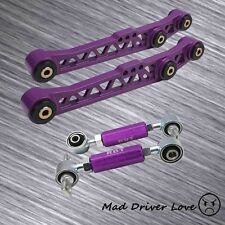FOR 90-01 INTEGRA REAR LOWER CONTROL ARM &AJUSTABLE CAMBER SUSPESION KIT PURPLE