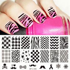 Nagel Schablone Nail Art Stamp Stamping Template Plates BORN PRETTY L006