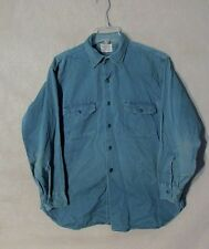 Z8969 Men's Vintage 1950's Hercules Roughshod Green Button Up Long Sleeve Shirt