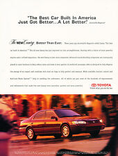 1997 Toyota Camry  - Original Advertisement Car Print Ad J322
