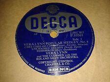 VERA LYNN : POPULAR MEDLEY No 4. Parts 1 & 2.  UK.78rpm (1955)