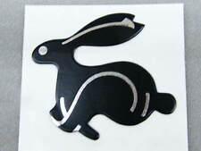 3D Aufkleber Hase Rabbit Kaninchen schwarz silber Klebeschild Sticker