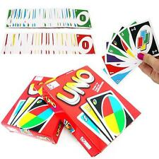 Standard Fun 108 UNO Playing Cards Game For Travel Family Friends Instruction MW