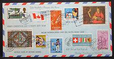 Schöner Luftpost Brief mit Motiv Marken und Friedens Stempeln Weihnacht (L-2557+