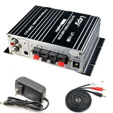 700W 12V Mini Hi-Fi Stereo Digital Amplifier mp3 iPod home + Power + audio cable