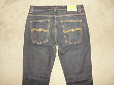 NUDIE Men's (35) 36 x 32 SLIM JIM Dry Black Stretch Jeans Supreme Sweden Italy
