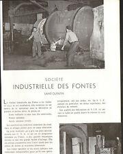02 SAINT-QUENTIN STE INDUSTRIELLE DES FONTES PUBLI-REPORTAGE 1958