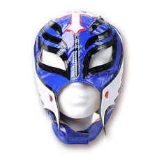 WWE Rey Mysterio Blue - White - Black Kids Wrestling Mask, WCW ECW WWF