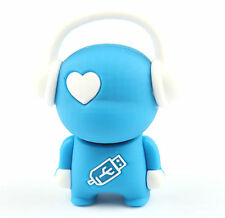 16 Gb musicguy Silicon Usb 2.0 Flash Memory Pen Drive Disco Stick Antigolpe Azul