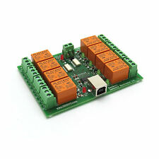 USB Eight Channel Relay Board for Automation - 24 V, software examples available