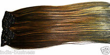 Artifice 6pc Multi Strait Silky Gold Highlighted 24 inch Hair Extension Clip Pin