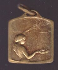 French Art Nouveau Art Deco Bronze Nude and Soceer, Sports Medal, Andre Mery