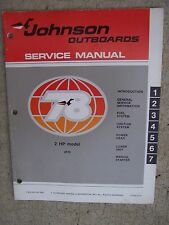 1978 Johnson Outboard Motor 2 HP Service Manual 2R78 MORE MANUALS IN OUR STORE U