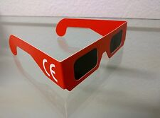Solar eclipse glasses (pack of 10) - CE marking - Red