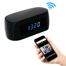 WIFI WIRELESS FULL HD H.264 1080p SPY CLOCK CAMERA BATTERY/MAINS OPERATED 24HR