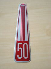 NOS ALUMINUIM EMBLEM TOP COVER HONDA CUB 50 C50 DECAL