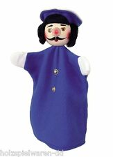 "Kersa 60251 Hand puppet ""Policeman"" blue for Puppet Theater Wooden Head new! #"