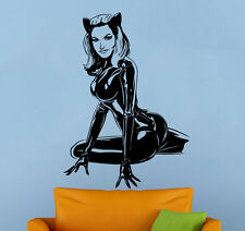 Comics Wall Decal Catwoman Vinyl Sticker Superhero Atr Home Wall Decor (020cw)