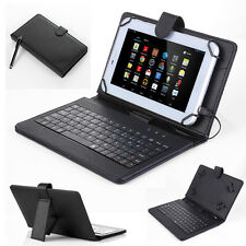 "7"" 7 inch Leather Case Cover USB Keyboard With Stylus for Android Windows T"