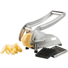 Acier inoxydable Potato Chipper frites tronçonneuse Chip Cutter Chopper maker UK