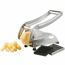 Acero Inoxidable Potato contento French Fries Rebanadora Chip Cortador Chopper Maker Reino Unido