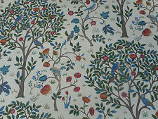 William Morris Curtain Fabric 'Kelmscott Tree' 1.7 METRES (170cm) Woad/Wine