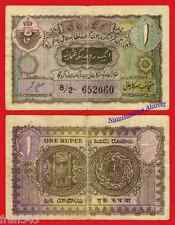 INDIA HYDERABAD 1 rupee 1939 1945 Pick S271 c BC /  F