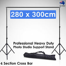 2.8x3M Photography Lighting Backdrop Background Support Stand Photo Studio Video