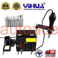 YIHUA 852D++ HOT AIR GUN HOLDER SOLDERING REWORK SMD STATION lead free  AU