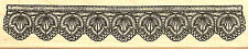 Lace Crochet Border #1 Wood Mounted Rubber Stamp Impression Obsession NEW