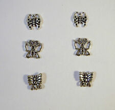 .925 Sterling Silver STUDS/POST Earrings 3 PAIR Small Butterfly SET NEW 925 PS16