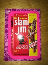 2008 WACKY PACK FLASHBACK 2 PACKAGES PINK PARALLEL STICKER SLAM JIM JAM 47 BOXER